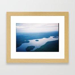 In the sky  Framed Art Print