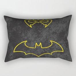 Black Bat Rectangular Pillow