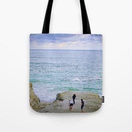 people at sea Tote Bag