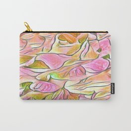 Flowing Soft Petal Abstract - Pink Carry-All Pouch