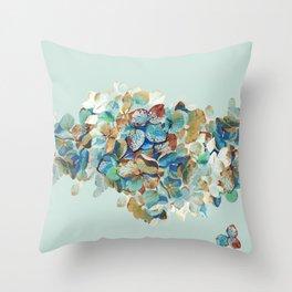 SEAFOAM Hortensia Throw Pillow