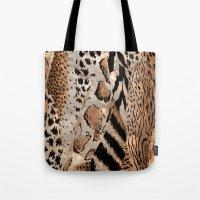 safari Tote Bags featuring Safari by Colorful Art