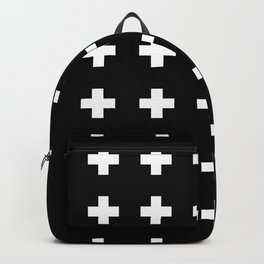 Swiss Cross Black Backpack