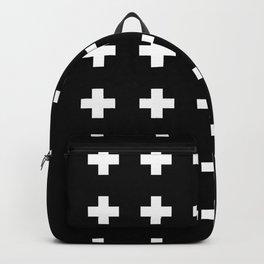 Swiss Cross Black Backpack