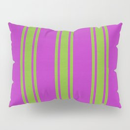 Yellow lines on a pink background Pillow Sham