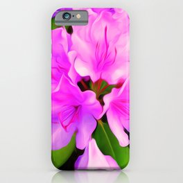 Painted Rhododendron - Pink iPhone Case
