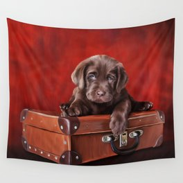 Drawing Puppy breed labrador Wall Tapestry
