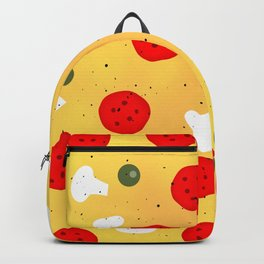 Cool fun pizza pepperoni mushroom Backpack