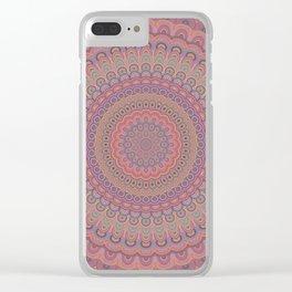 Boho oval mandala Clear iPhone Case