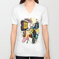 final fantasy V-neck T-shirts featuring Final Adventure Fantasy Time! by Noel Castillo