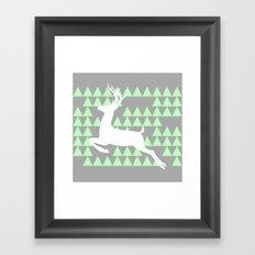 FREEDOM DEER Framed Art Print