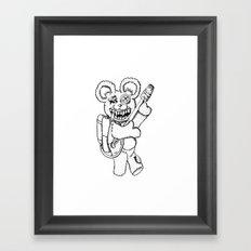 Teddy Rockin' the Flamethrower Framed Art Print