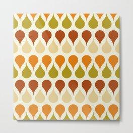 Pastel vintage 60s color drop pattern Metal Print