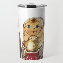 Babushka nesting dolls Travel Mug