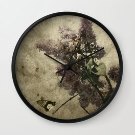 Lilac Scents Wall Clock