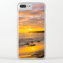 Seeing the sun goes down at Laguna Beach Clear iPhone Case
