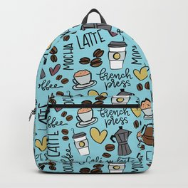 Coffe Time - Blue Backpack
