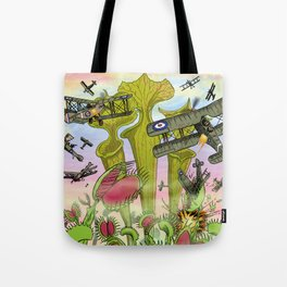 Plants Vs Planes Tote Bag