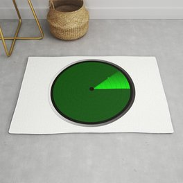Radar Screen With A Green UFO Dot Rug