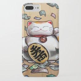 Lucky Ca$h Cat iPhone Case