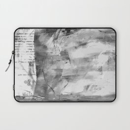 Triskelion Book Abstract Black and White by Ericka O'Rourke Laptop Sleeve