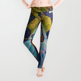 Mankind at the Crossroads Portrait by Diego Rivera Leggings