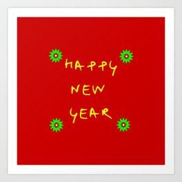 happy new year 12 Art Print