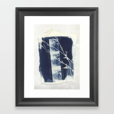 Cyanotype Collage Framed Art Print