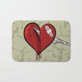 Stabbed Heart Bath Mat