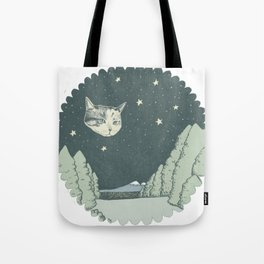 Cat Moon Tote Bag