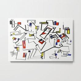 Geometric Mondrian Metal Print