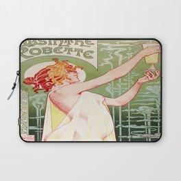 Art Nouveau Absinthe Robette Ad Laptop Sleeve