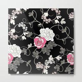 Cool floral texture Metal Print