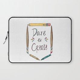 Dare To Create Badge Laptop Sleeve