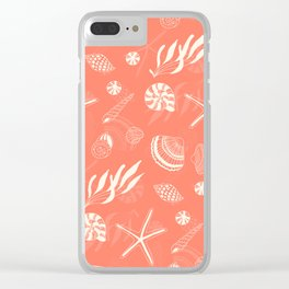 Sea shells patten Clear iPhone Case