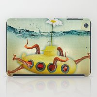 yellow submarine iPad Cases featuring yellow submarine in an octapuses garden by Vin Zzep