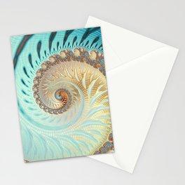 Vanilla Swirl - Fractal Art  Stationery Cards