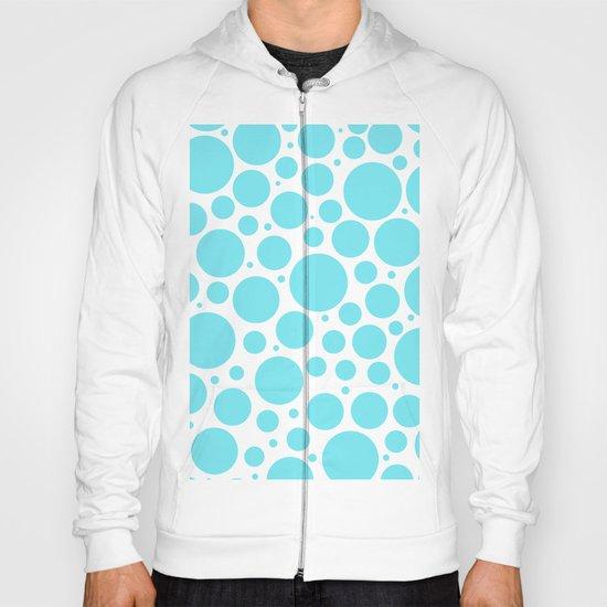 Aqua polkadots- Dot turquoise pattern Hoody