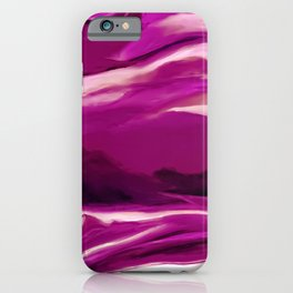 Purple Raspberry Abstract Painting iPhone Case