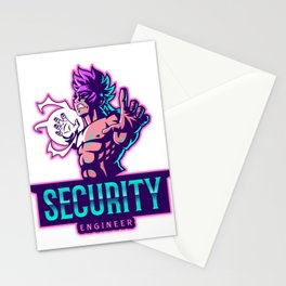 The power of a Security Engineer Stationery Cards
