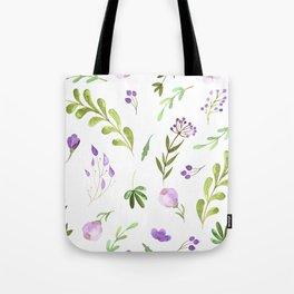 Purple Flower Field Tote Bag