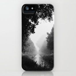 Flowing morning fog iPhone Case