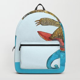 surfing sloth in the spring Backpack