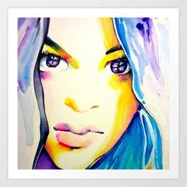 Halfcaste Beauty Art Print