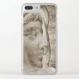 Lady Angel Celestial Woman Spiritual Art A145 Clear iPhone Case