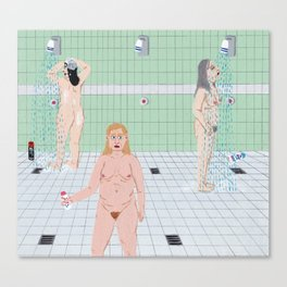 Ladies in the The Showers Canvas Print
