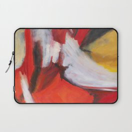 Red Sonja - Red Yellow Abstract Painting Laptop Sleeve