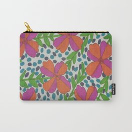 Jungle Rain Flowers Carry-All Pouch