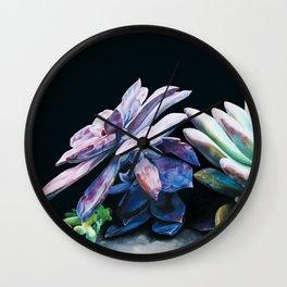 Succulent Jewel II Wall Clock