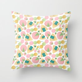 Japanese Snacks Throw Pillow